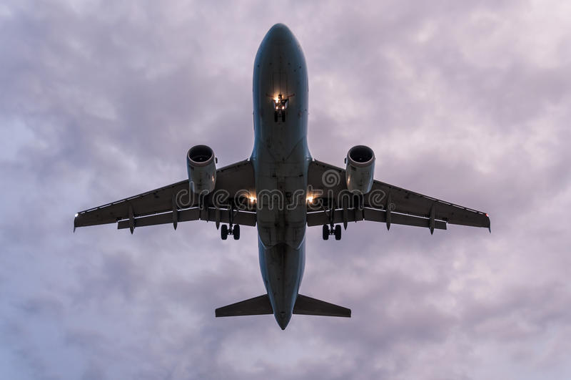 飞机平台视图 库存照片