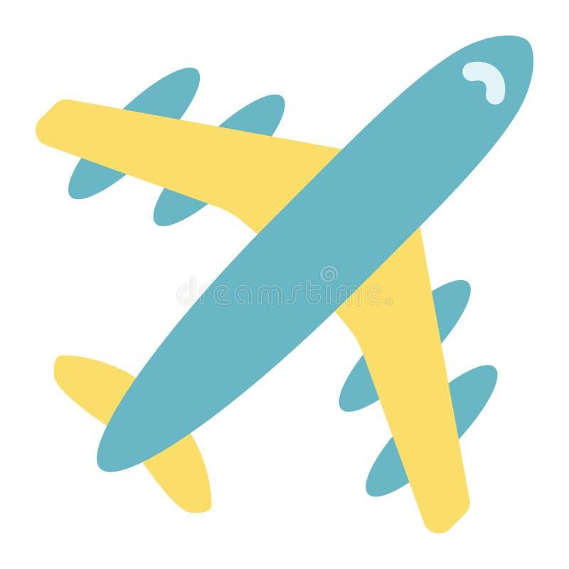 飞机平的象、旅行和运输,航空器 向量例证