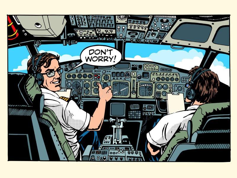 飞机座舱驾驶飞机上尉 库存例证