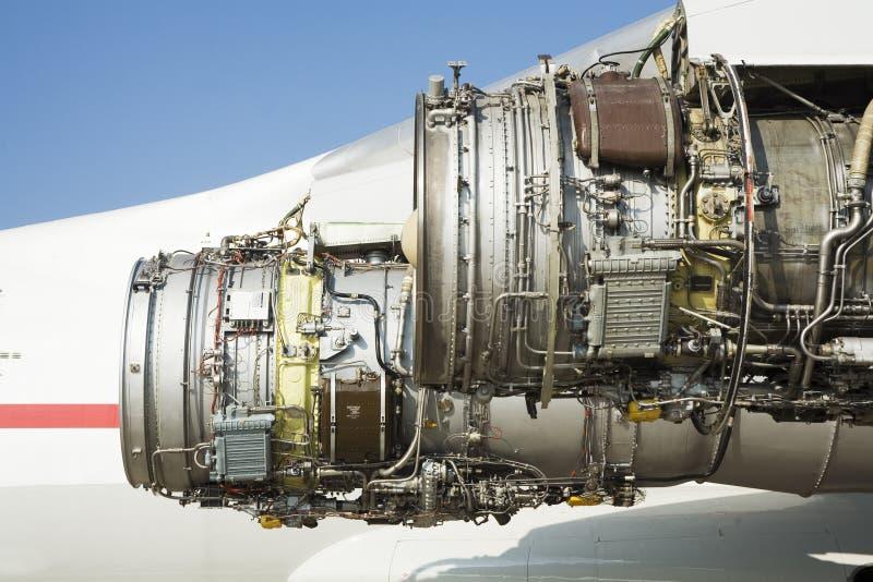 飞机引擎剥离 库存图片