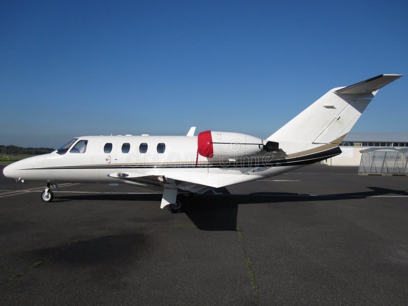 飞机执行委员喷气机 免版税库存照片