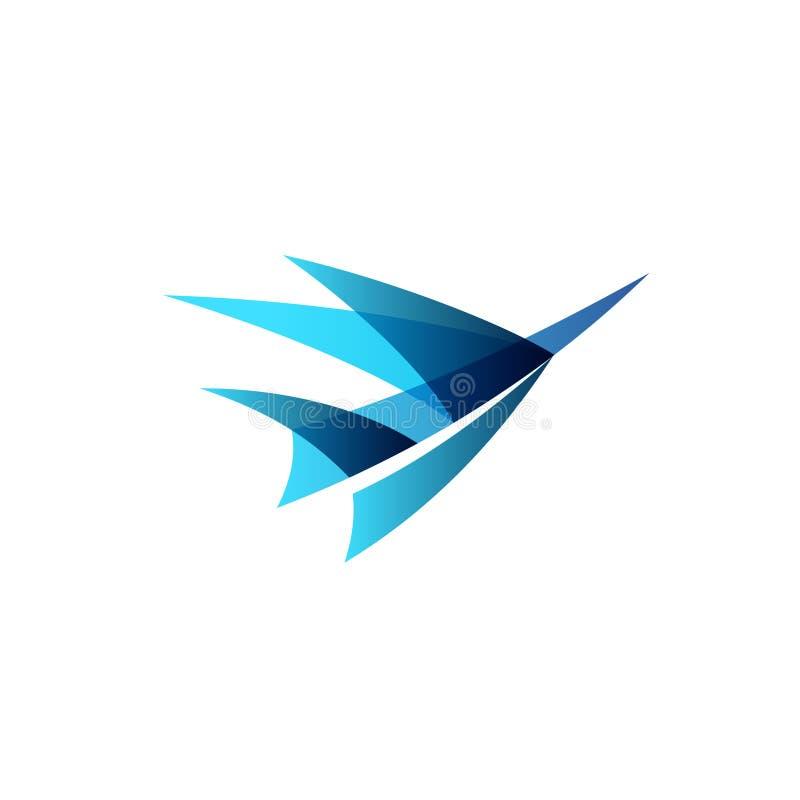 飞机抽象商标 向量例证