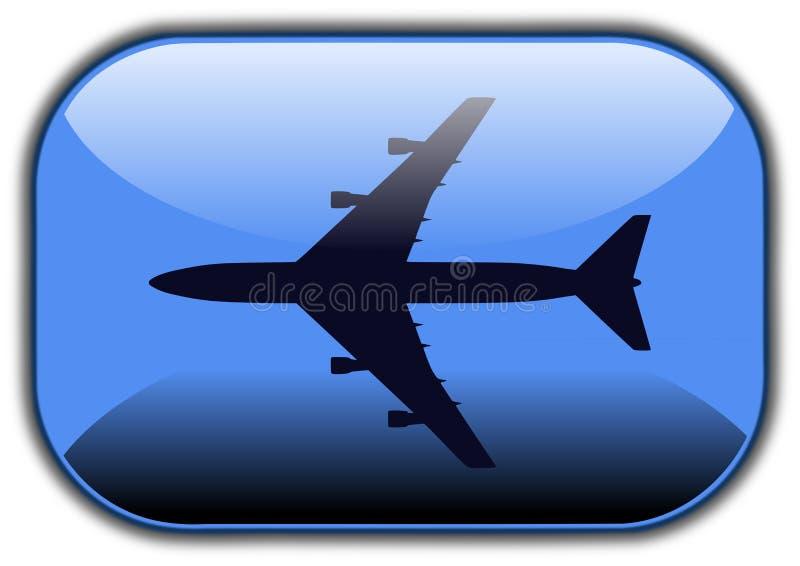 飞机按钮 库存例证