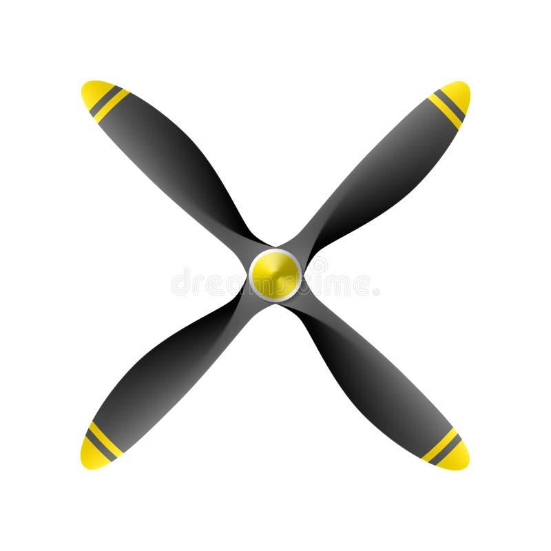 飞机推进器 向量例证