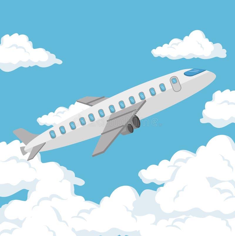 飞机旅行保险业务概念 向量例证