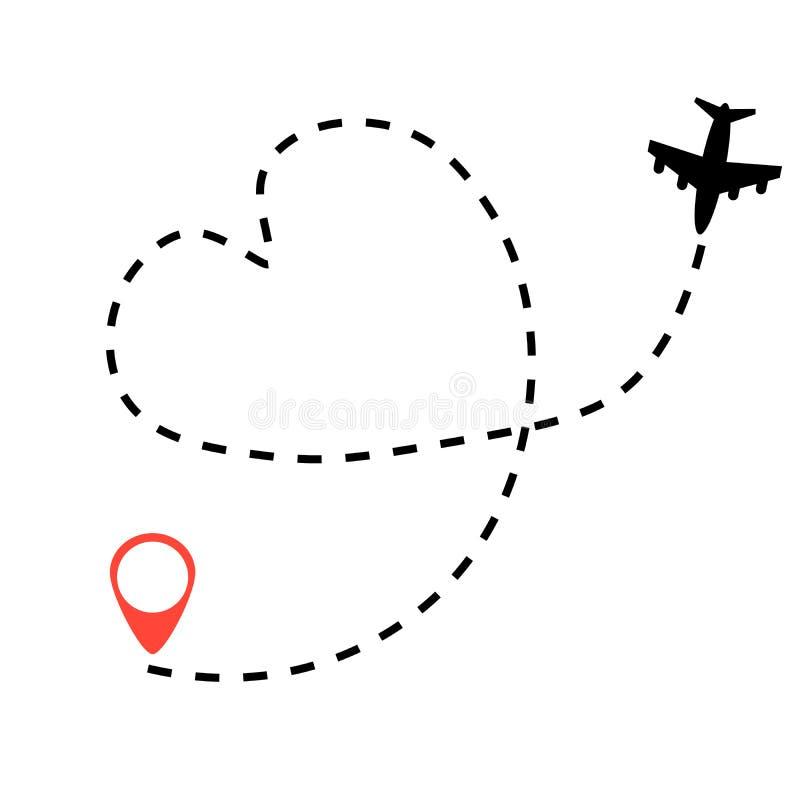 飞机旅行概念 向量例证