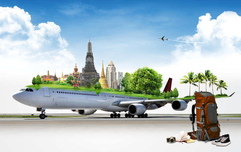 飞机旅行,概念 库存图片