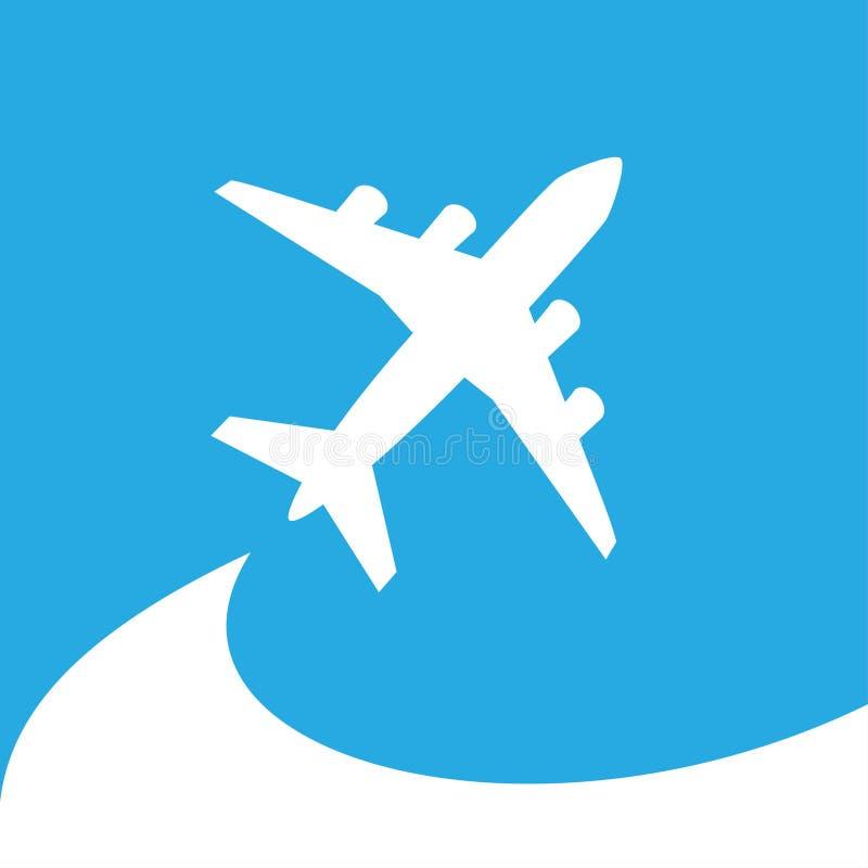 飞机标志 飞机标志 库存例证