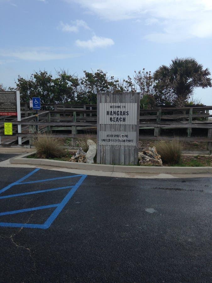 飞机棚海滩,美国空军队 库存图片