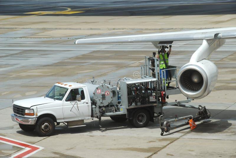 飞机消耗大的装载运算  免版税库存图片