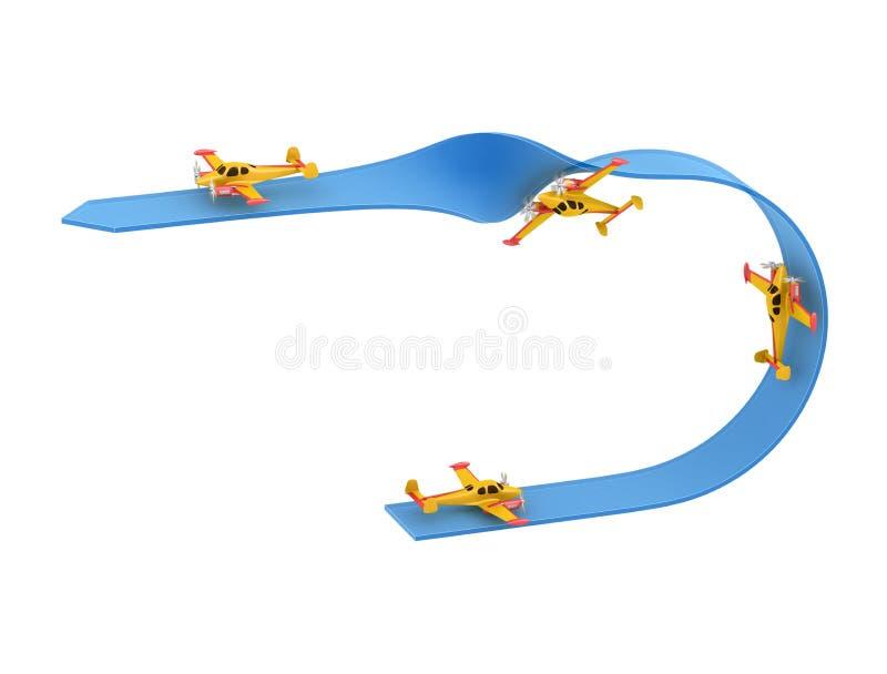 飞机特技飞行 向量例证