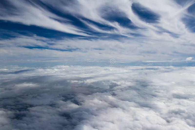 从飞机的云层 库存图片