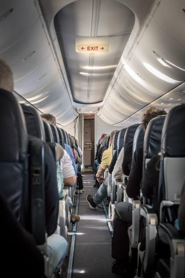 飞机的内部看法 库存照片