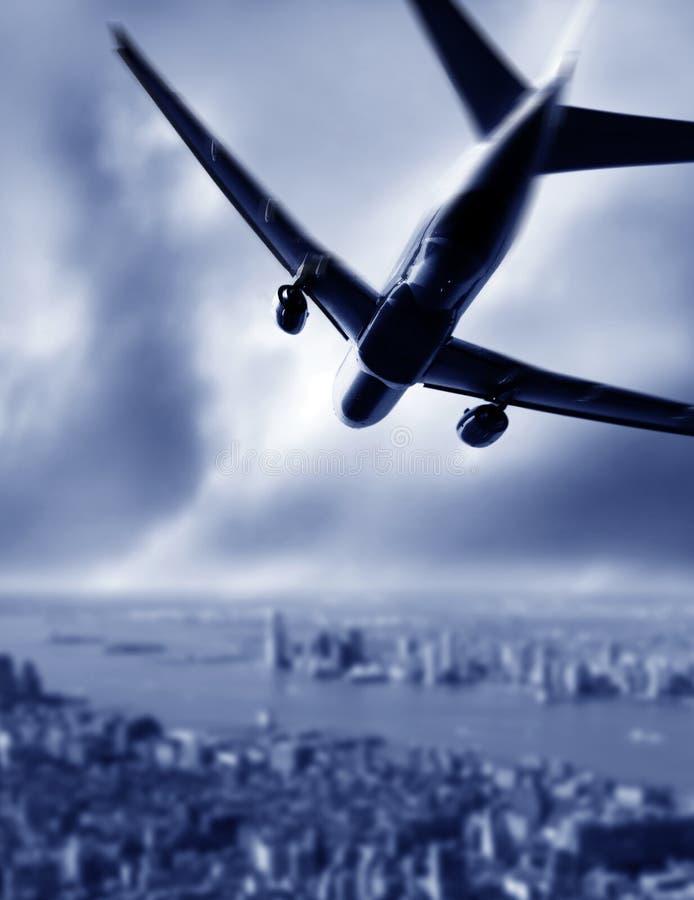 飞机的剪影 免版税库存图片