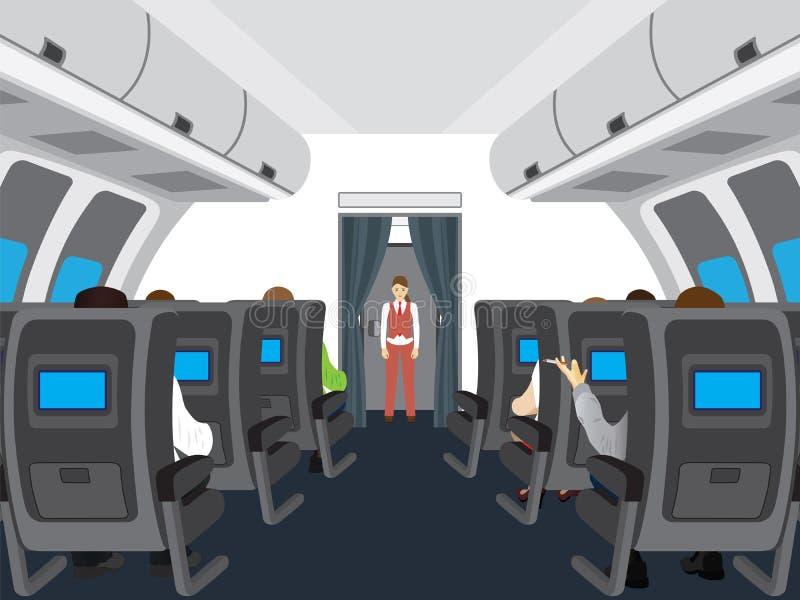 Download 飞机的沙龙内部 向量例证. 插画 包括有 椅子, 旅途, 工作, 公共汽车, 舒适, 里面, 秋田, 客舱 - 62535170