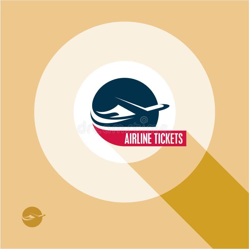 飞机票商标 飞机 aksel 飞机 向量例证