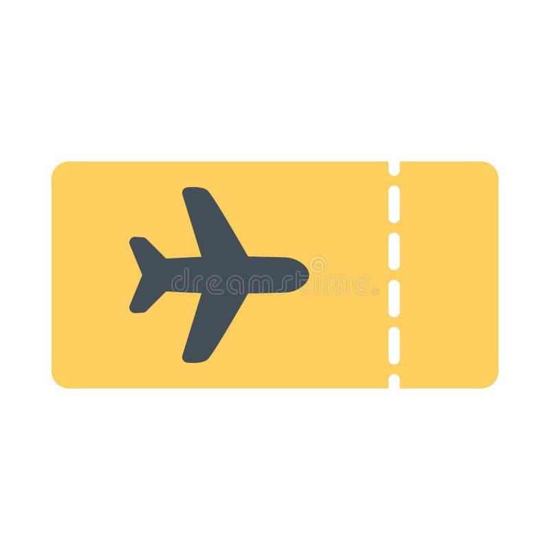 飞机票象 传染媒介简单的最小的96x96图表 皇族释放例证
