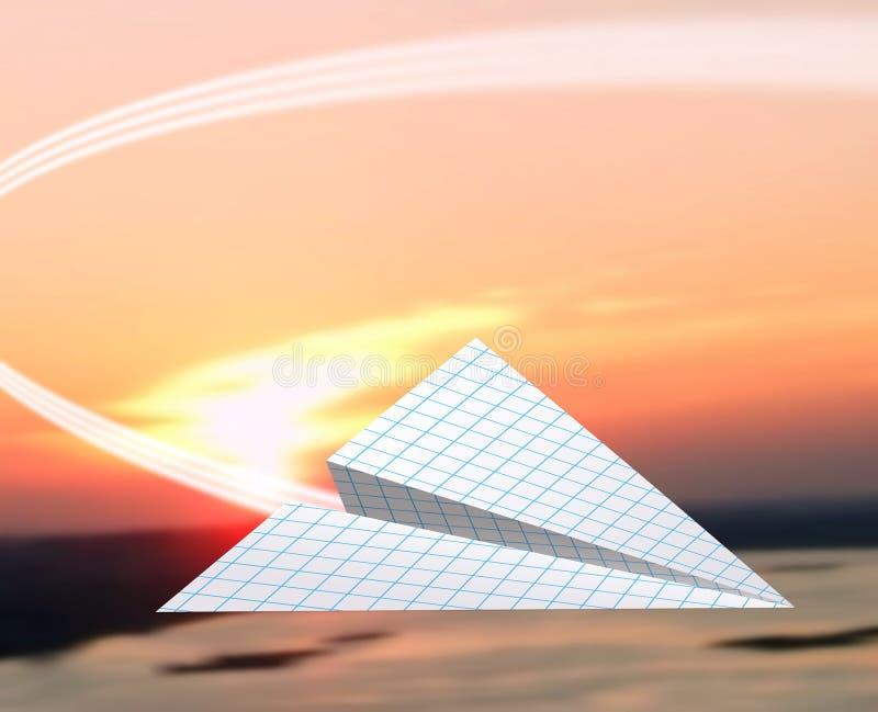 飞机纸张 免版税库存照片