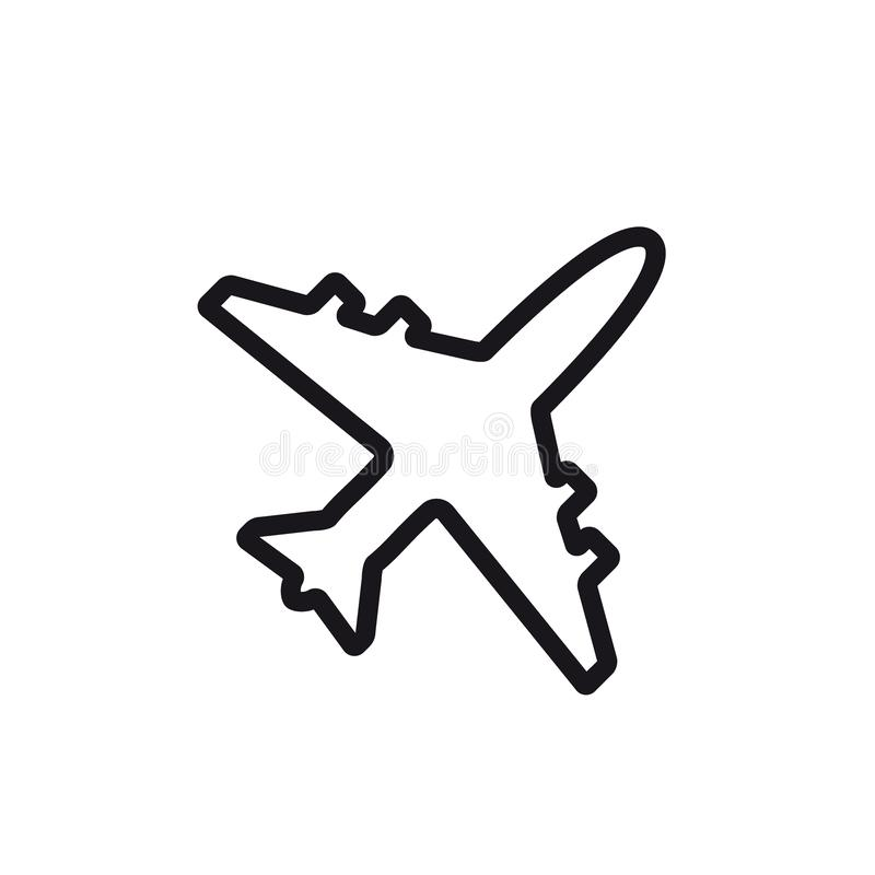 飞机线象 平面标志和标志传染媒介例证设计 皇族释放例证