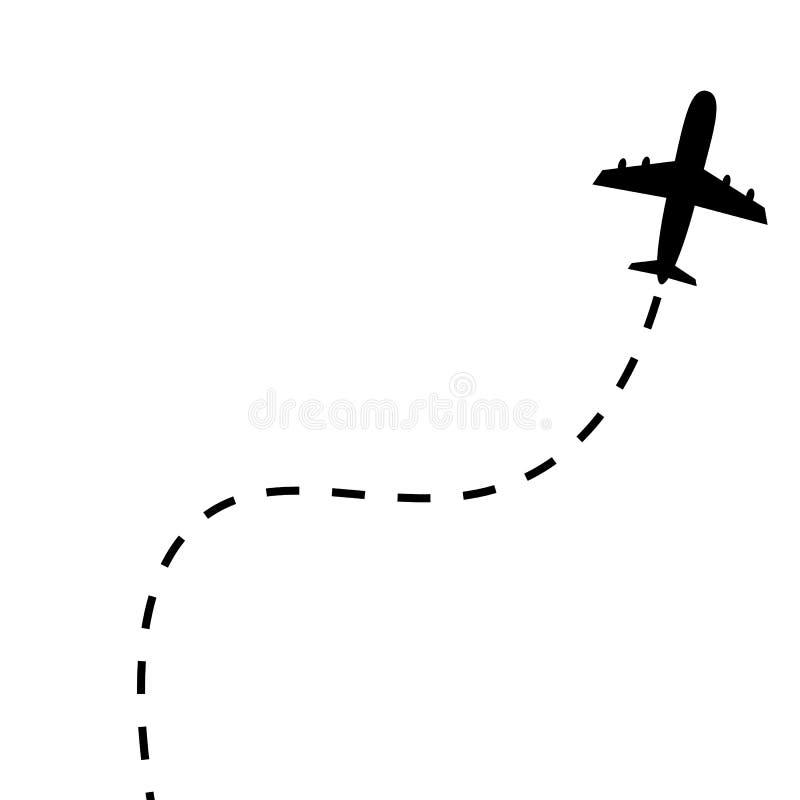 飞机线道路 库存例证