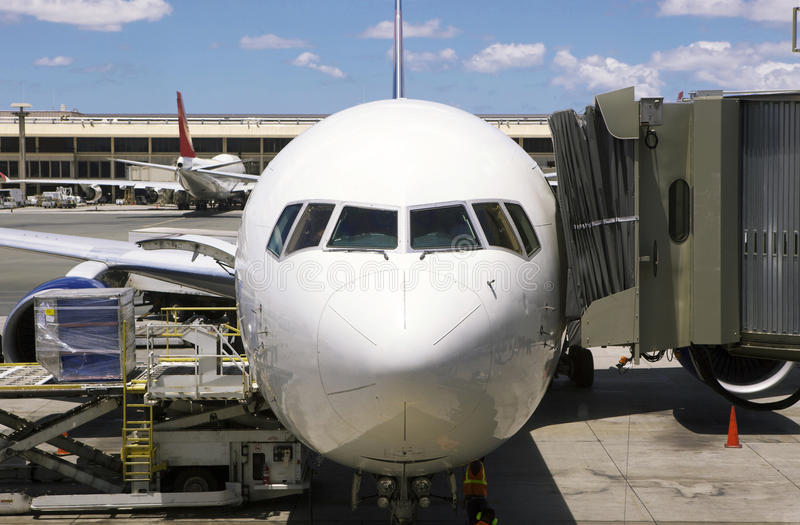 飞机终端 库存图片