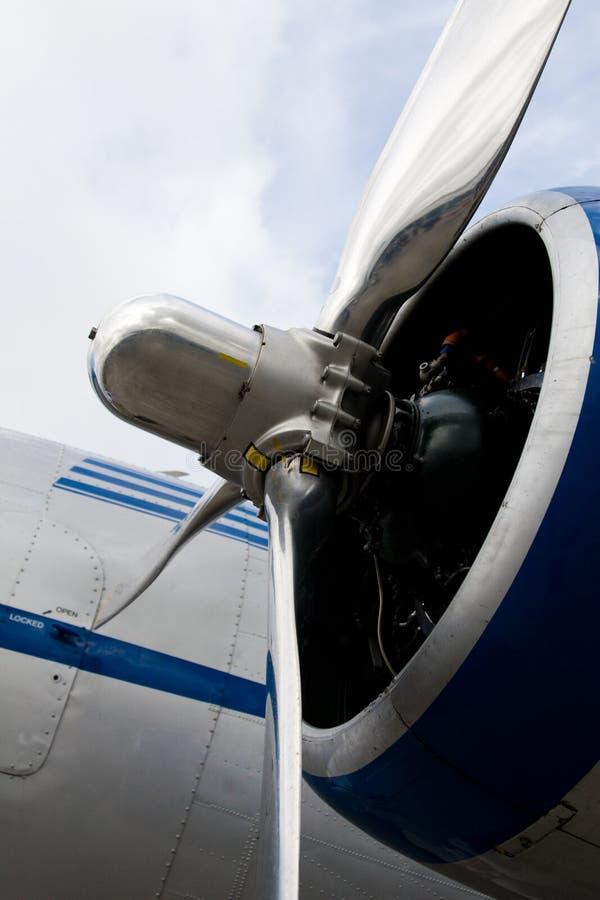 飞机经典引擎推进器 免版税库存照片