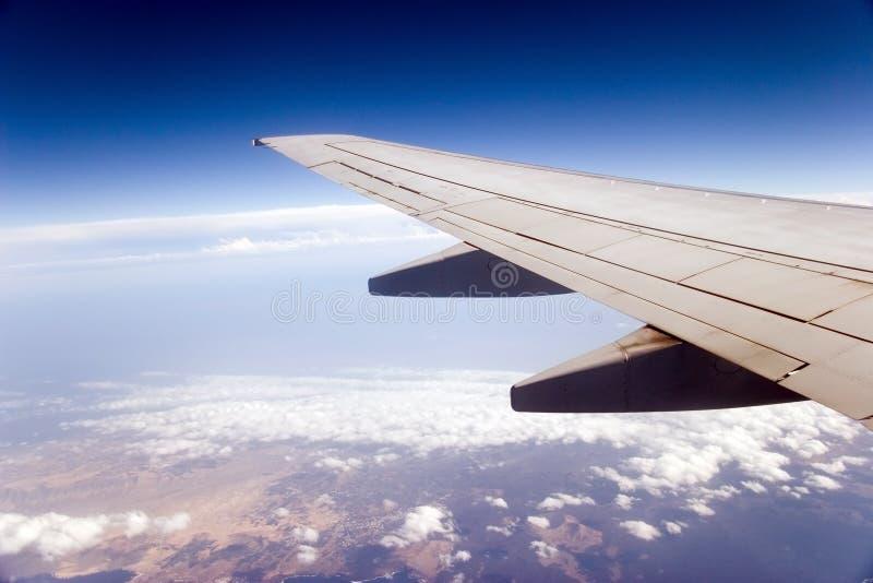 飞机翼 免版税库存图片