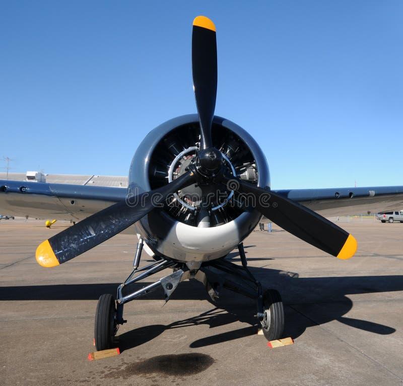 飞机老推进器 免版税库存照片