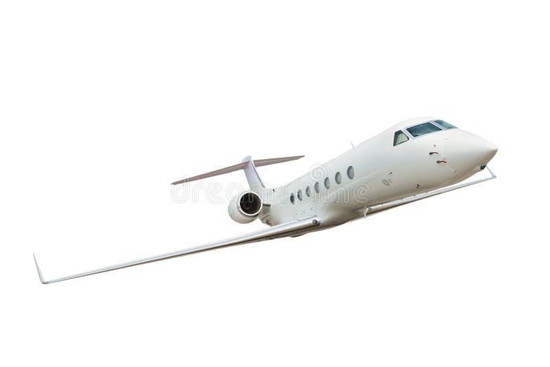 飞机背景查出的白色 库存图片
