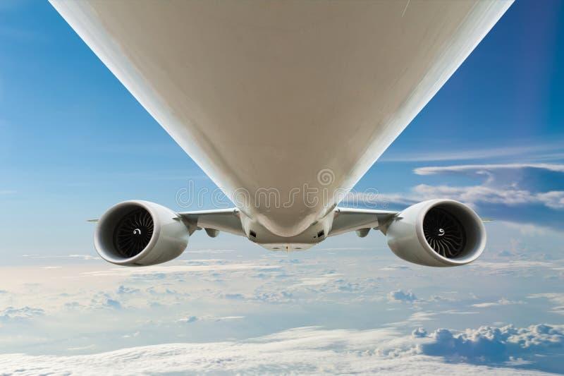 飞机蓝天 图库摄影