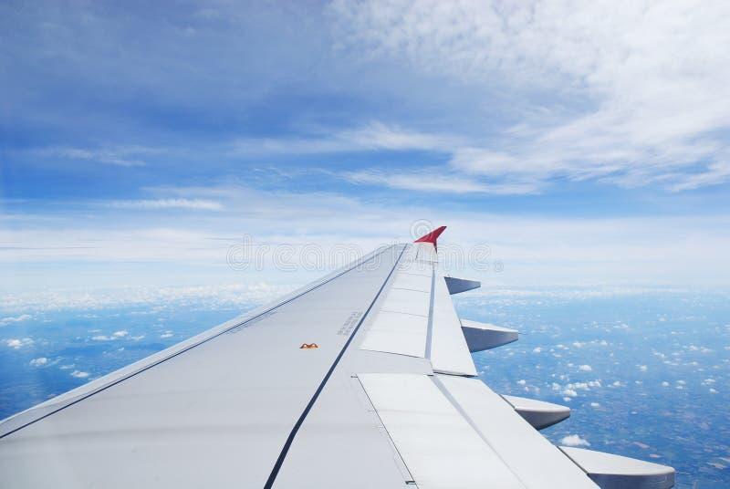 飞机视图 免版税图库摄影