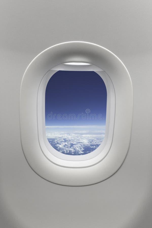 飞机视窗 免版税库存照片