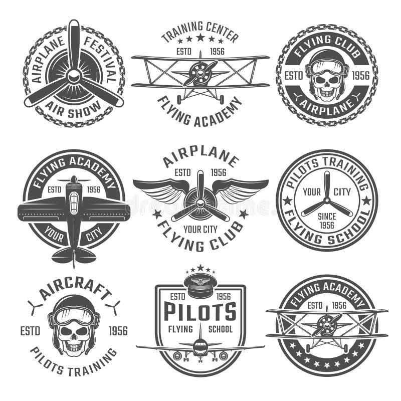 飞机象征集合 皇族释放例证