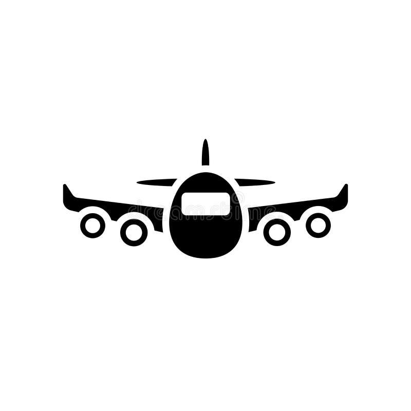 飞机象 在白色backgroun的时髦飞机商标概念 库存例证