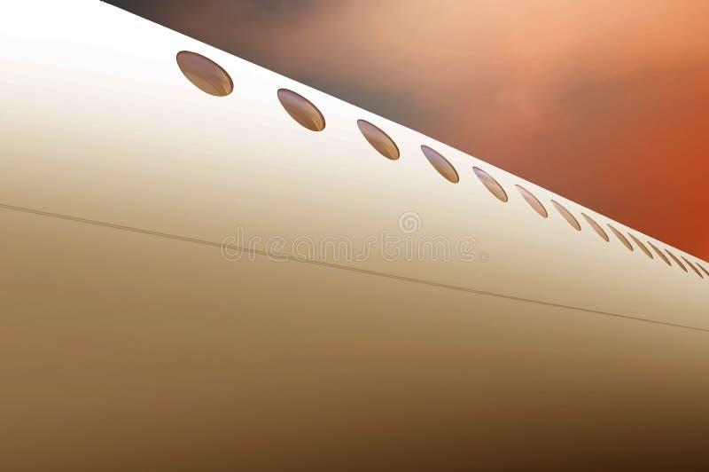 飞机身体背景 免版税库存图片