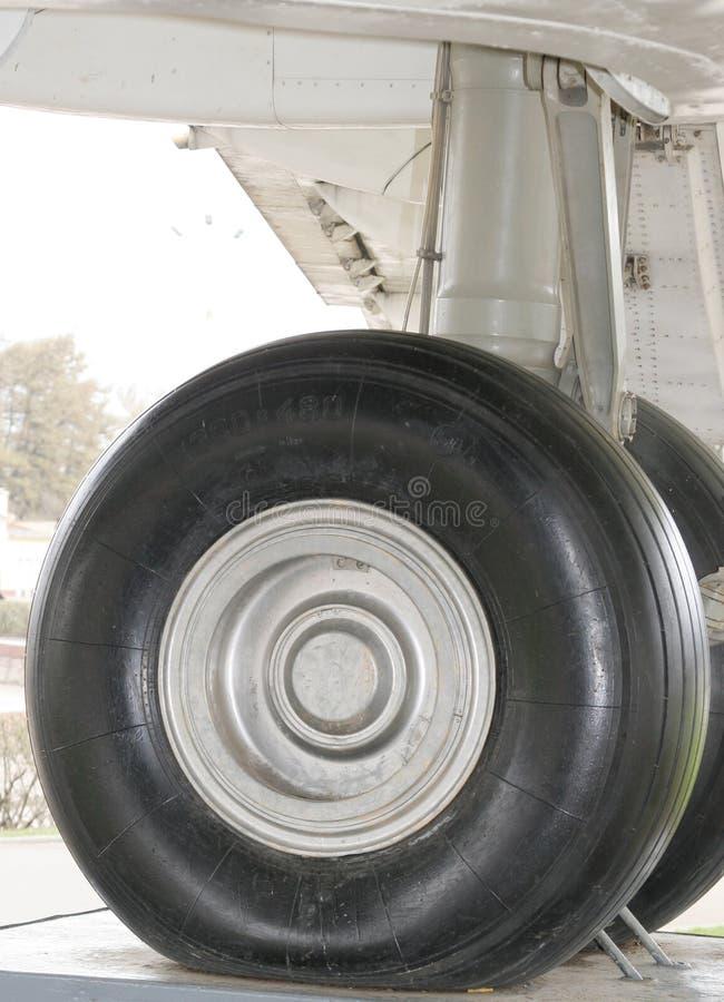 飞机轮子 库存照片