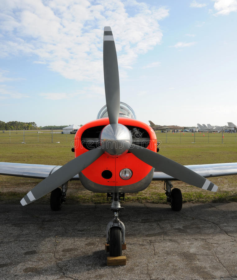 飞机轻的推进器 库存照片