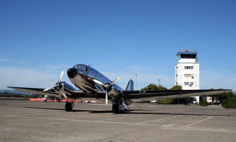 飞机达可它dc3道格拉斯 库存照片