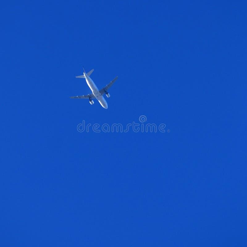 飞机顶上的天空 库存图片