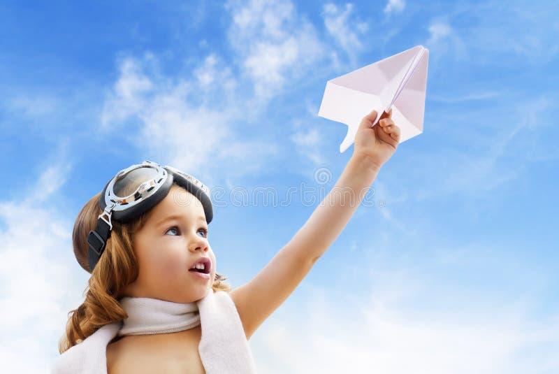 飞机飞行员 免版税图库摄影
