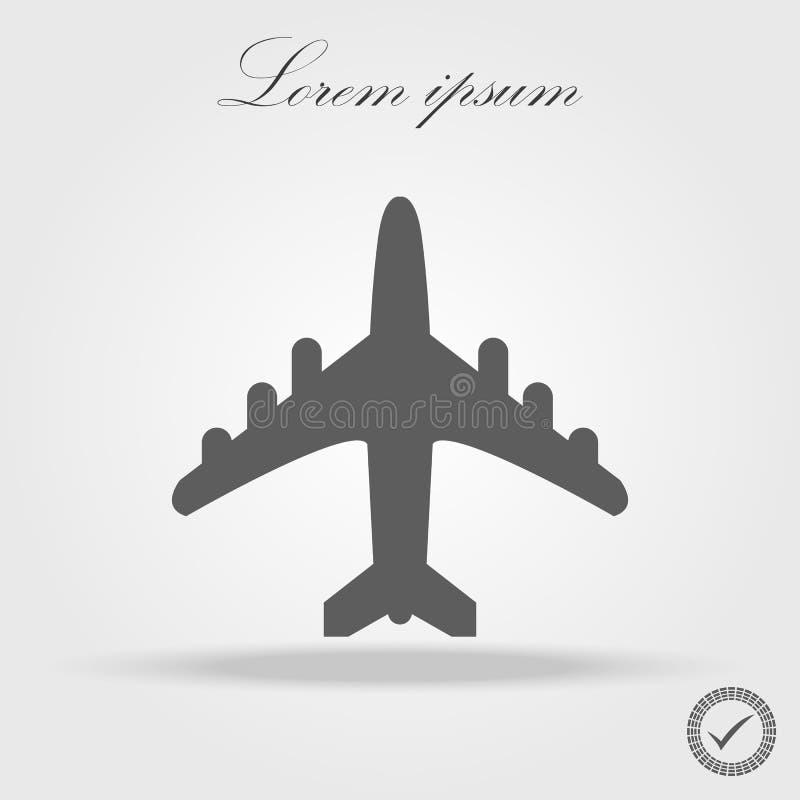 飞机飞行票宣扬飞行旅行起飞剪影元素 平面标志 容易编辑图标旅行 平的设计 10 eps 皇族释放例证