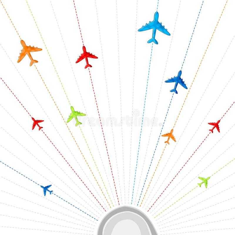 飞机飞行 向量例证