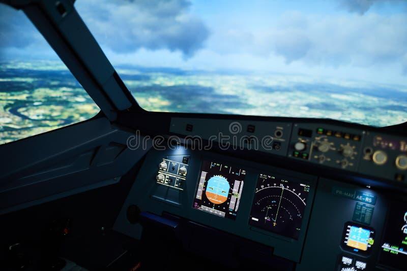 飞机驾驶舱 免版税库存图片
