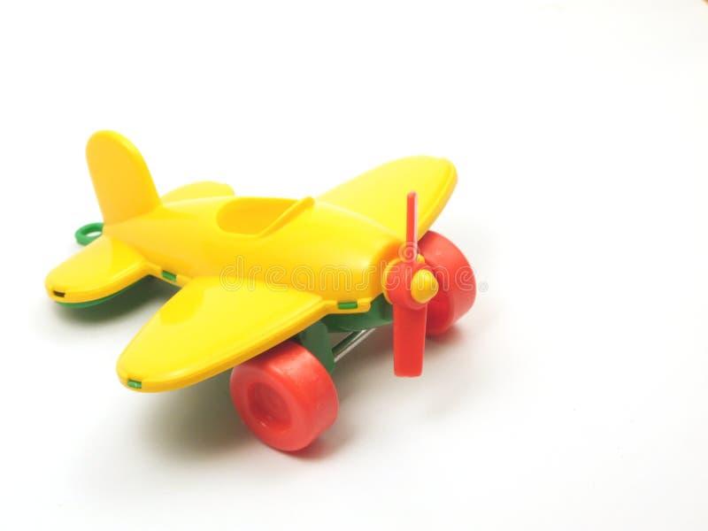 飞机黄色 库存照片