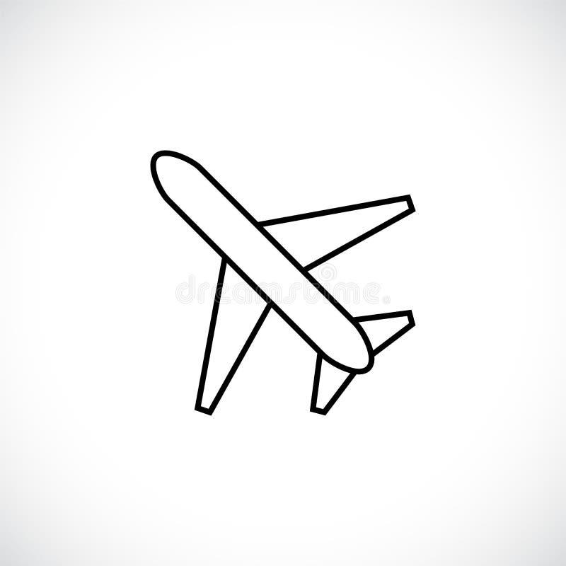 飞机,航空器排行在白色背景隔绝的象 皇族释放例证