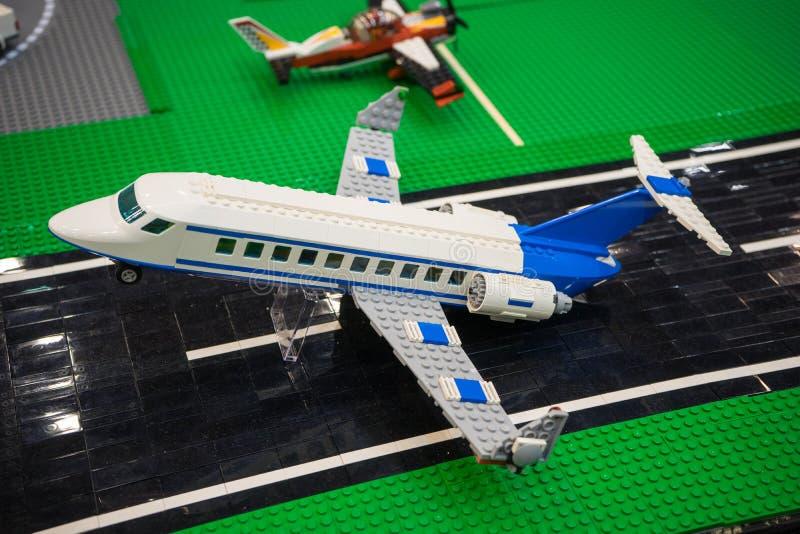飞机lego 免版税库存图片