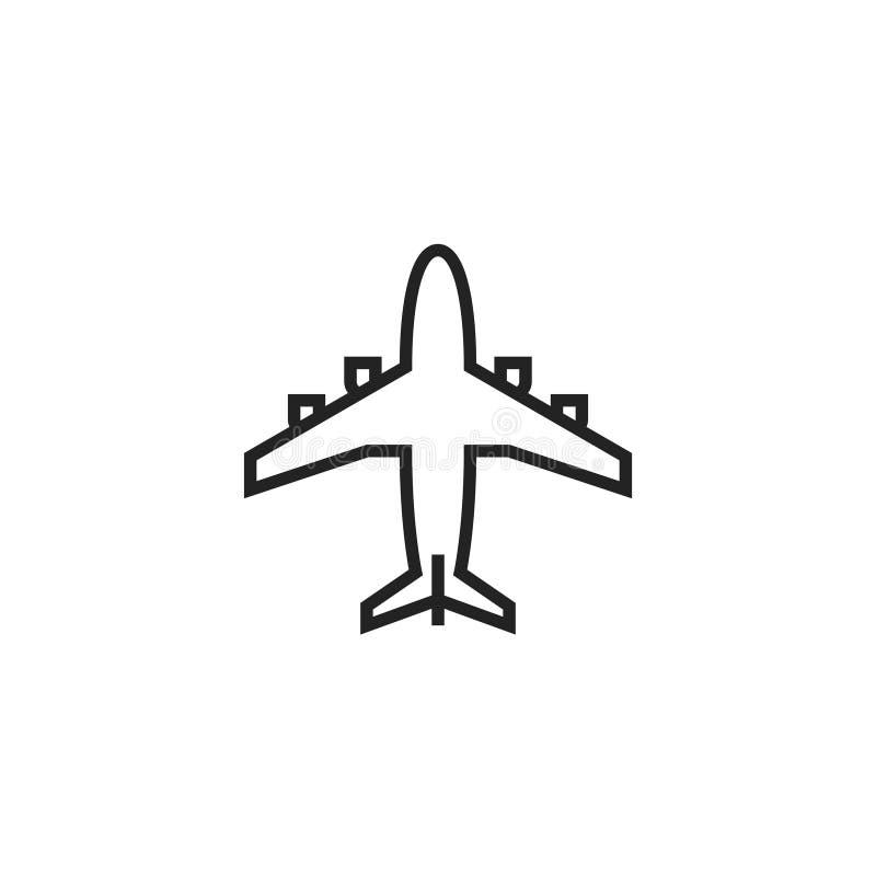 飞机Oultine传染媒介象、标志或者商标 向量例证