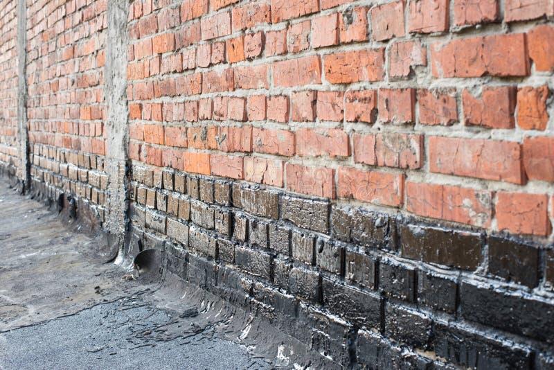 飞沫砖墙 免版税库存图片