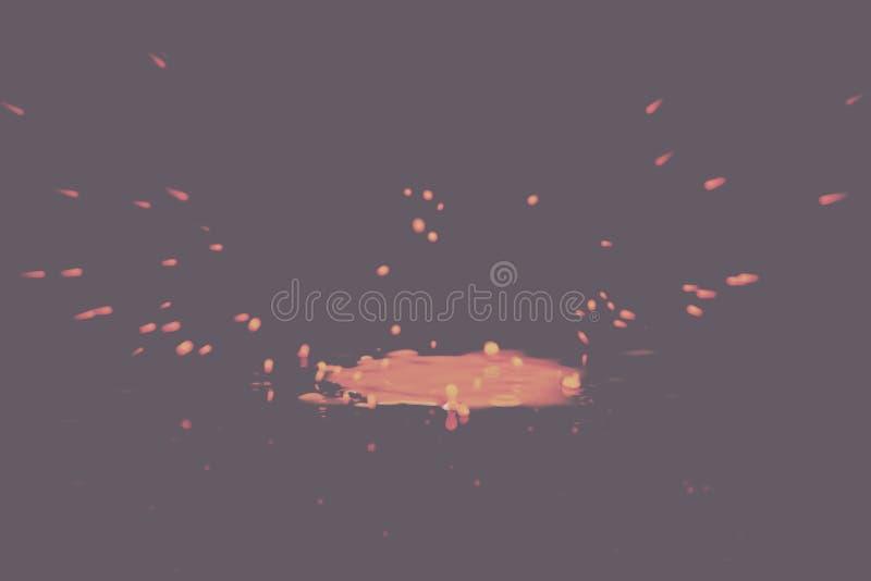 绘飞溅在黑色背景葡萄酒减速火箭的过滤器的下落 库存照片