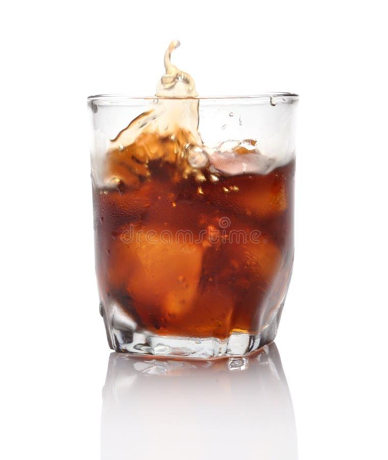 飞溅威士忌酒 免版税库存图片